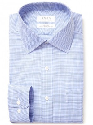 ENRO Essentials | Odessa Check Spread Collar Dress Shirt