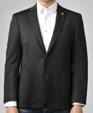 Luchiano Visconti Black with Grey Accent Sport Jacket (ABE 130) SIZE XL AND XXL ONLY