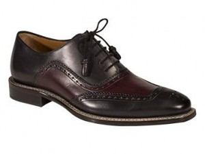 "CLOSEOUT:  Mezlan Shoe ""CADIZ""   Graphite/Burgundy (Size 10 1/2 ONLY)"
