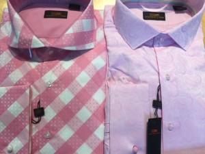 Lot of 2 Pink French Cuff Steven Land Dress Shirts Size 17.5 x 36/37 ONLY
