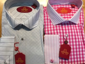 Lot of 2 French Cuff Robert Lewis Dress Shirts Size 19 x 36/37 ONLY