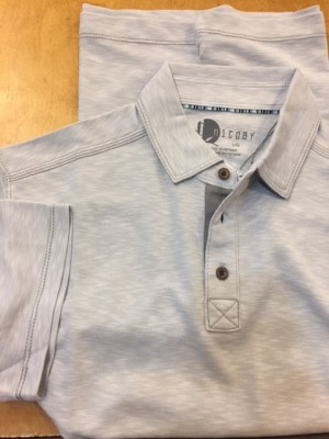 Age of Wisdom Charcoal 3 Button Polo