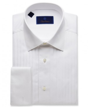 David Donahue Classic Pleat Bib Front Regular Fit Formal Dress Shirt (PB6110110)