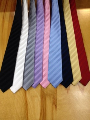 Danielli Silk Tie Diagonal Stripe Tone on Tone