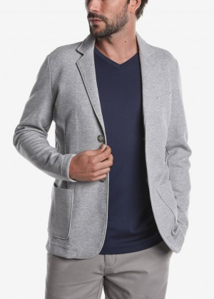 Raffi Aqua Cotton Unconstructed Jacket Grey
