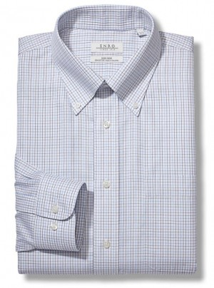 ENRO Essentials | Tattersall Button Down Collar Dress Shirt
