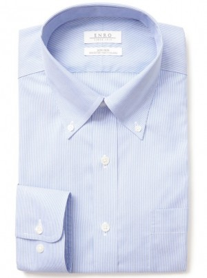 ENRO Essentials | Wilkenson Fine-Line Stripe Button Down Collar Dress Shirt