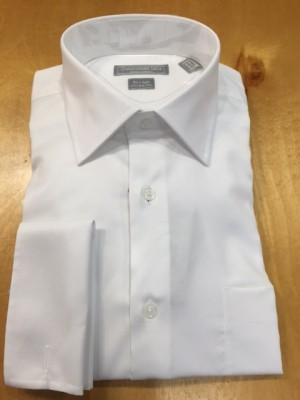 Christopher Lena White Solid French Cuff Dress Shirt