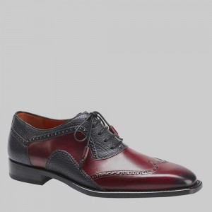 "CLOSEOUT:  Mezlan Shoe ""CONIL"" Burgundy/Black (SIZE  10 1/2  ONLY).  LAST PAIR!"
