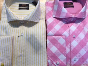 Lot of 2 French Cuff Trim Fit Steven Land Dress Shirts Size 16.5 x 34/35 ONLY
