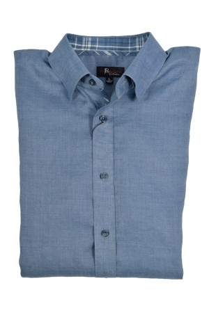 Jon Randall Navy Long Sleeve Linen Shirt (J750)