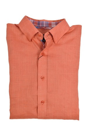 Jon Randall Peach Long Sleeve Linen Shirt (J752)