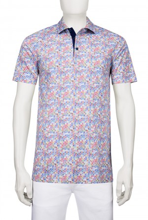 Bugatchi Candy Short Sleeve Three Button Polo(JF2580F21)