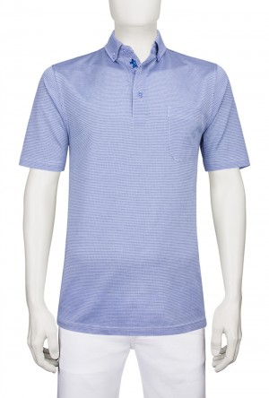 Bugatchi Orchid Short Sleeve Three Button Polo(JCF3503F3)
