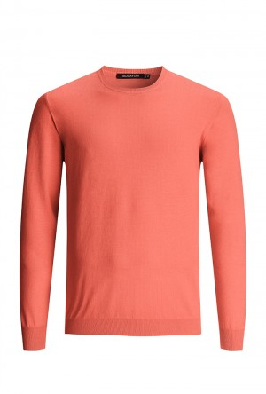 Bugatchi Coral Long Sleeve Crew Neck Sweater (LH200CN1)