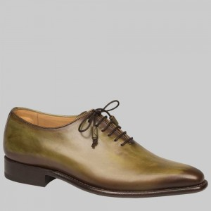 "CLOSEOUT:  Mezlan Shoe  ""EUGENE"" Olive (Size 12 ONLY).  LAST PAIR!"