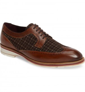 "CLOSEOUT:  Mezlan Shoe ""PAULOV"" Cognac/Brown (Size 11.5 ONLY)"