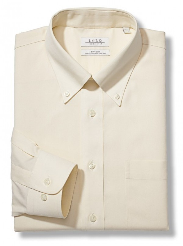 Welcome to the shirtbox ecru enro essentials newton for Pinpoint button down dress shirt