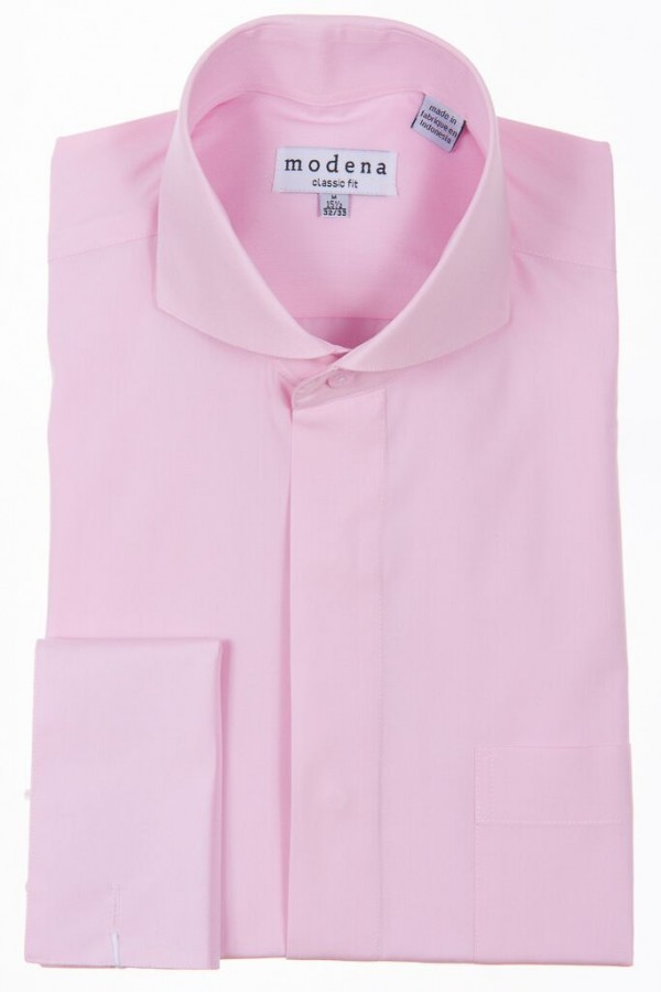 Welcome to the shirtbox pink classic fit cut away collar for French collar dress shirt