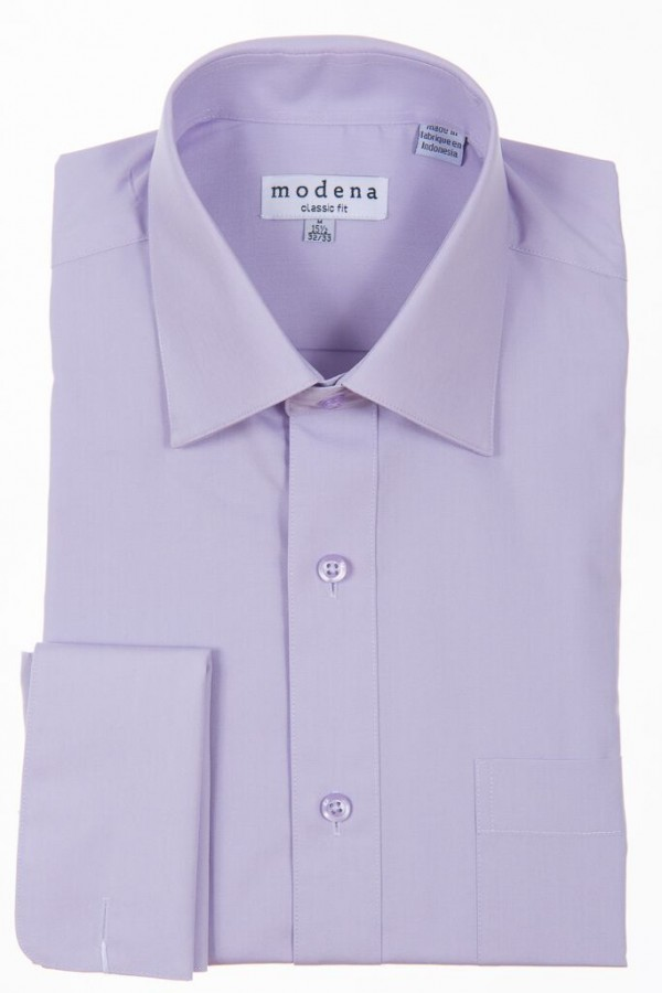 Welcome To The Shirtbox Lavender Classic Fit French Cuff